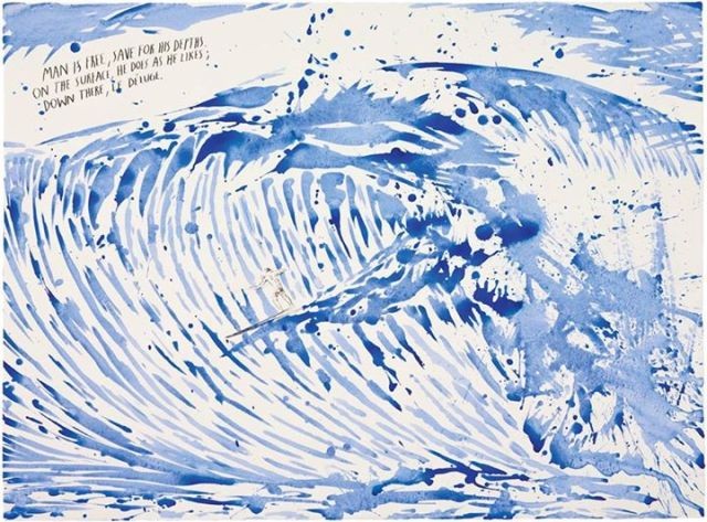 Raymond Pettibon, Untitled (Man is free), 1999.