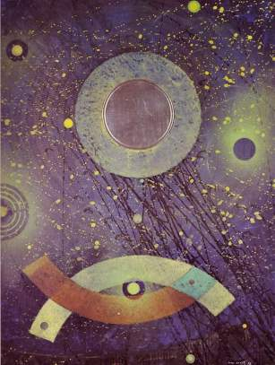 Max Ernst , Birth of a Galaxy, 1969.